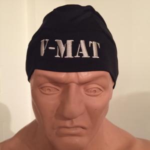 V-MAT Black w/ Desert Tan Flag Skully