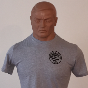 V-MAT Grey w/V-MAT Dojo Patch T-Shirt