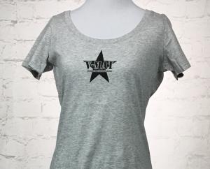 Ladies - V-MAT Grey w/V-MAT Dojo Patch T-Shirt